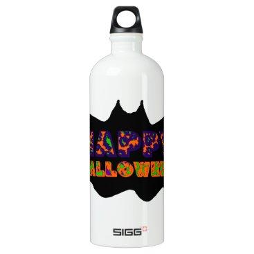 Halloween Themed Happy Halloween Bat Aluminum Water Bottle