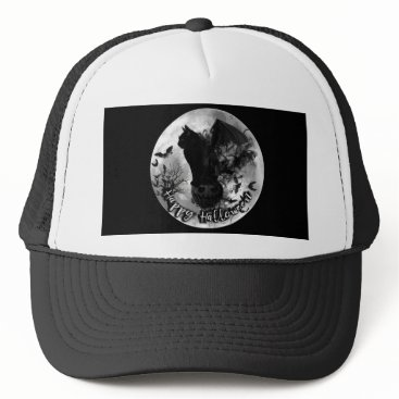 Halloween Themed Happy Halloween Bat Cat Baseball Cap