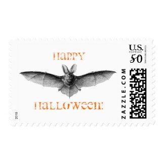 Happy Halloween Bat Postage