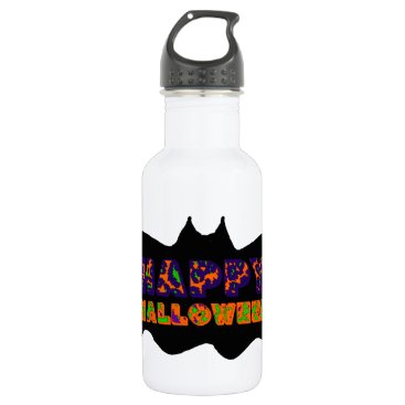 Halloween Themed Happy Halloween Bat Stainless Steel Water Bottle
