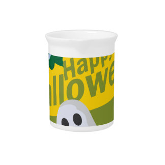 Happy Halloween Bats and Ghosts Beverage Pitcher