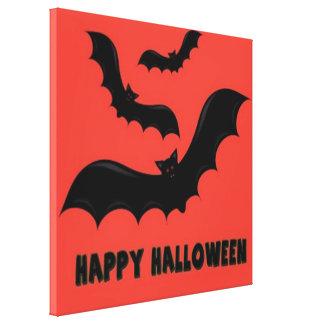 Happy Halloween Bats Canvas Print