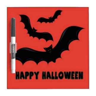 Happy Halloween Bats Dry Erase Board
