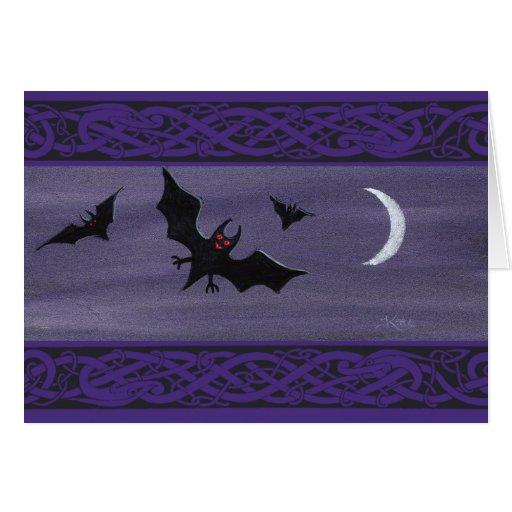 Happy Halloween Bats Greeting Card