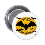 Happy Halloween Bats Pins