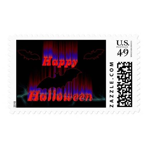 Happy Halloween bats Postage