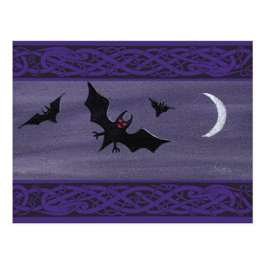 Happy Halloween Bats Postcard