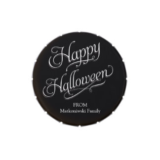 Happy Halloween Beautiful Script Jelly Belly Candy Tin