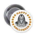 Happy Halloween Bigfoot Buttons