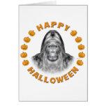 Happy Halloween Bigfoot Greeting Card