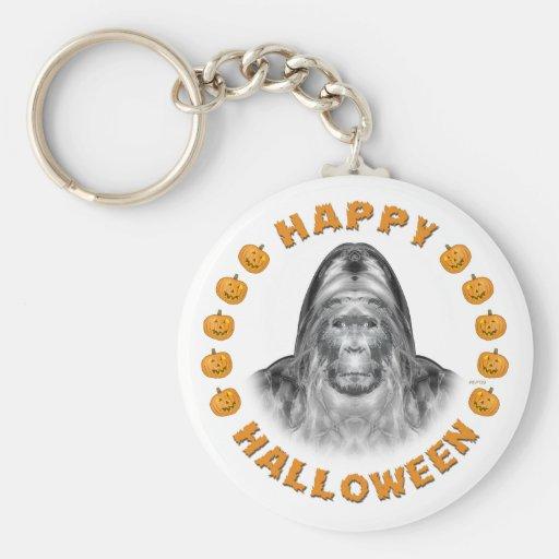 Happy Halloween Bigfoot Keychain