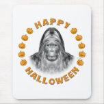 Happy Halloween Bigfoot Mouse Pad