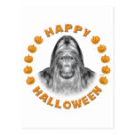 Happy Halloween Bigfoot Postcard