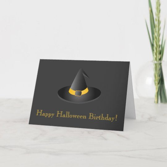 Happy Halloween Birthday Card Zazzle