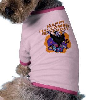 Happy Halloween Birthday! Doggie T Shirt