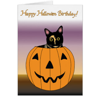happy halloween birthday greeting card - Happy Halloween Birthday