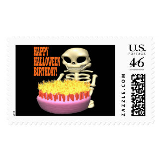 Happy Halloween Birthday Postage Stamps