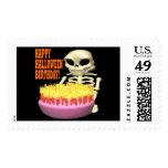 Happy Halloween Birthday Postage Stamp