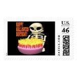 Happy Halloween Birthday Postage Stamps
