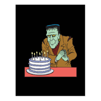 Happy Halloween Birthday Postcard
