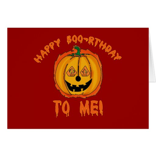 Happy Halloween Birthday T-shirts and Gifts Greeting Card