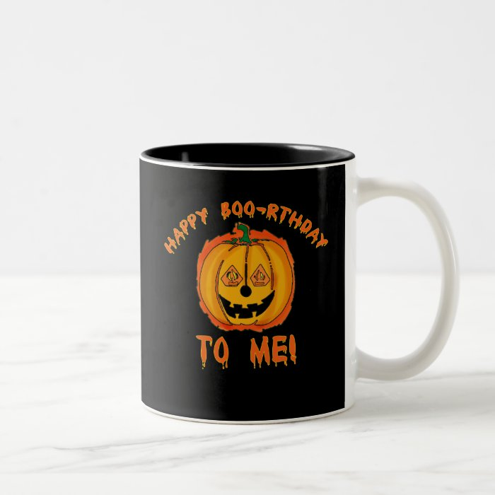 Happy Halloween Birthday T-shirts and Gifts Two-Tone Coffee Mug