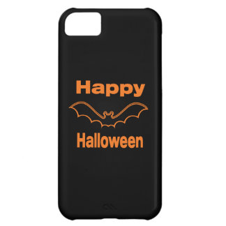 Happy Halloween Black Bat Cover For iPhone 5C