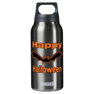 Happy Halloween Black Bat Insulated Water Bottle