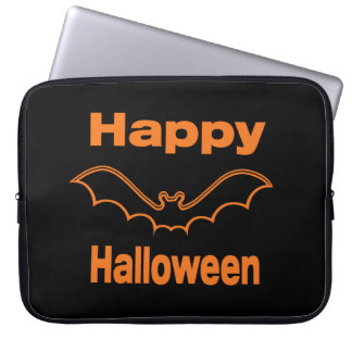 Happy Halloween Black Bat Laptop Sleeve