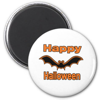 Happy Halloween Black Bat Magnet