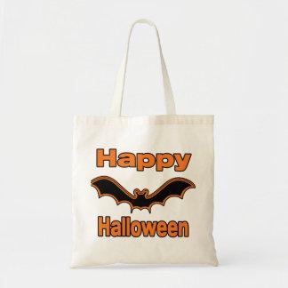 Happy Halloween Black Bat Tote Bag