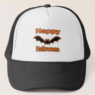 Happy Halloween Black Bat Trucker Hat