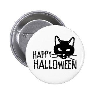 Happy Halloween Black Cat 2 Inch Round Button