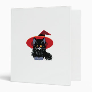 Happy Halloween Black Cat 3 Ring Binder