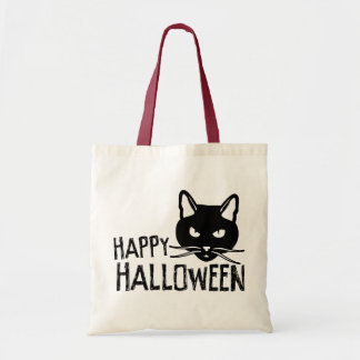 Happy Halloween Black Cat Budget Tote Bag
