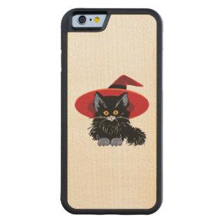 Happy Halloween Black Cat Carved Maple iPhone 6 Bumper Case