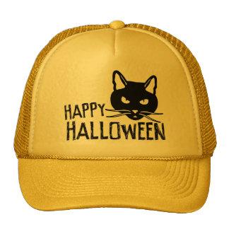 Happy Halloween Black Cat Mesh Hats
