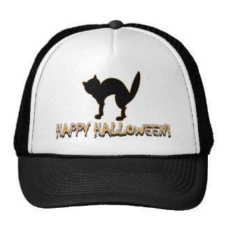 Happy Halloween Black Cat Hat