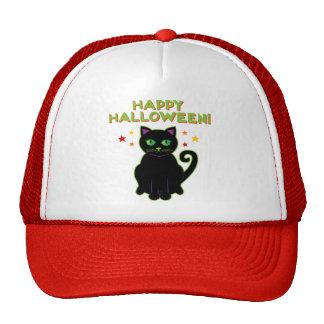 Happy Halloween Black Cat Trucker Hat