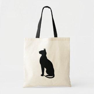 Happy Halloween Black Cat in Silhouette Tote Bag