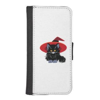 Happy Halloween Black Cat iPhone SE/5/5s Wallet Case