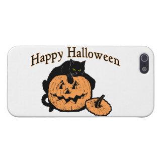 Happy Halloween Black Cat On Pumpkin iPhone SE/5/5s Cover
