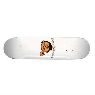 Happy Halloween Black Cat On Pumpkin Skateboard Deck