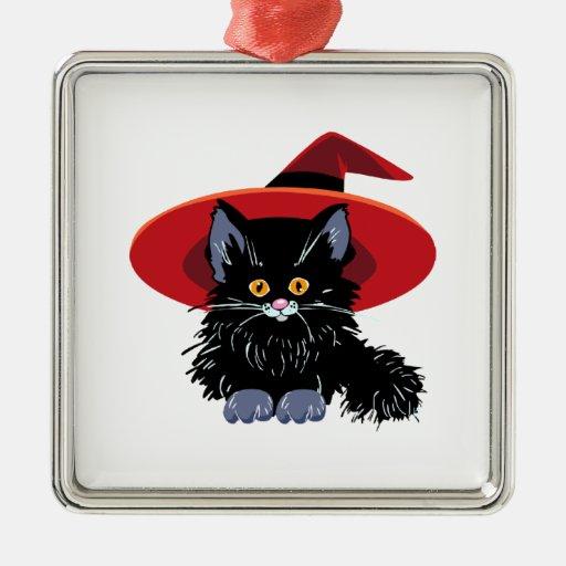 Happy Halloween Black Cat Christmas Tree Ornament