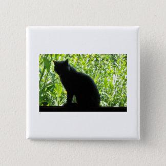 Happy Halloween Black Cat Pinback Button