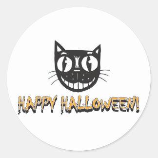 Happy Halloween Black Cat Sticker