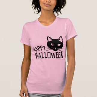 Happy Halloween Black Cat Tshirts