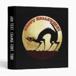 Happy Halloween Black Cat with Full Moon Vinyl Binders