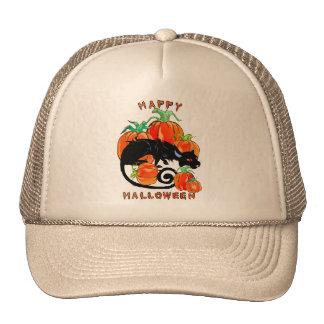 Happy Halloween Black Kitty Hat