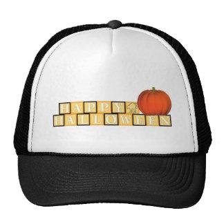 Happy Halloween Blocks Trucker Hat
